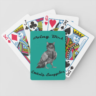 funny Cat doing Bird Bicycle Playing Cards