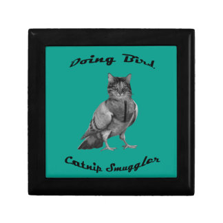 funny Cat doing Bird Small Square Gift Box