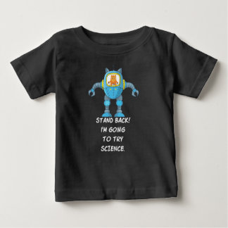 Funny Cat Engineering Scientist Robot Science Baby T-Shirt