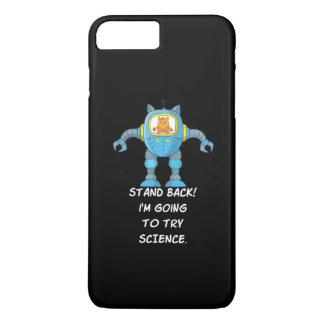 Funny Cat Engineering Scientist Robot Science iPhone 8 Plus/7 Plus Case