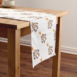 Funny Cat Engineering Scientist Robot Science Short Table Runner