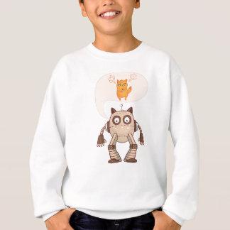 Funny Cat Engineering Scientist Robot Science Sweatshirt