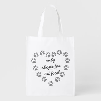 Funny Cat Food Shopping bag