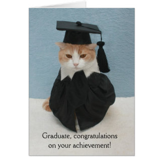 Funny Cat Graduation Greeting Card