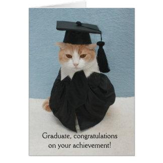 Funny Cat Graduation Greeting Card