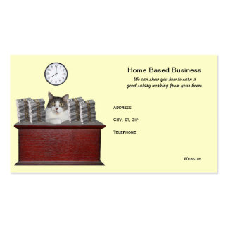 Funny Cat Home Based Business Pack Of Standard Business Cards