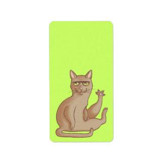 Funny Cat Label