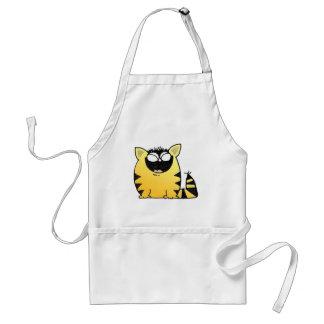 Funny cat laugh adult apron