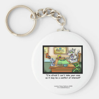 Funny Cat & Lawyer Funny Key Chain