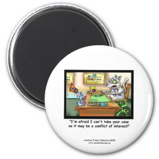 Funny Cat & Lawyer Funny Novelty Magnet