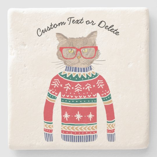 Funny Cat Lover Cat Wearing Ugly Christmas Sweater