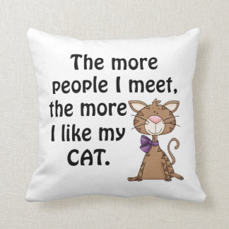 Funny Cat Lover Throw Pillow Throw Cushions