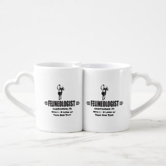 Funny Cat Lovers Mug Set