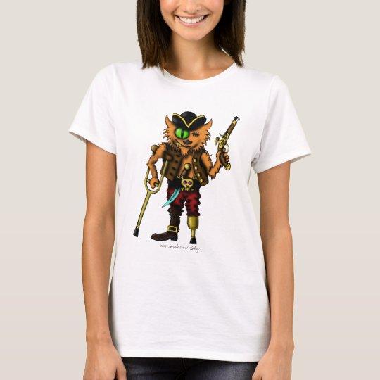 Funny cat pirate cute t-shirt design