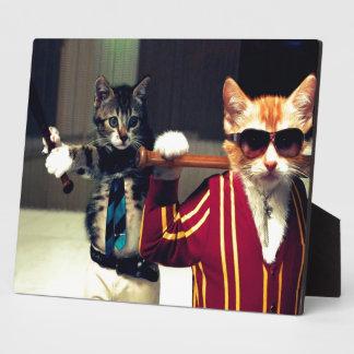 Funny cat plaque