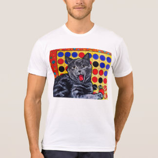 Funny cat playing a game t-shirt. T-Shirt