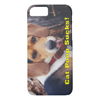 Funny Cat Poop Sucks Dog Sticking Tongue Out iPhone 7 Case