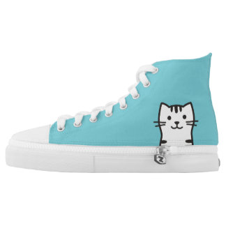 Funny cat portrait high tops