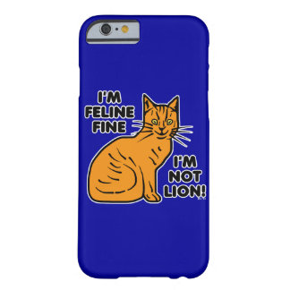 Funny Cat Pun Barely There iPhone 6 Case