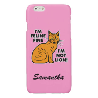 Funny Cat Pun Orange Tabby Personalized iPhone 6 Plus Case