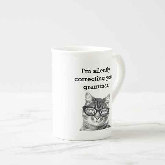 Funny cat quote photo bone china speciality tea