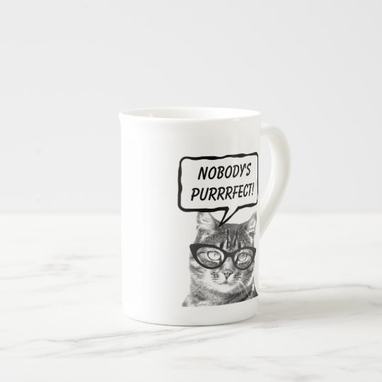 Funny cat quote pun bone china speciality mugs