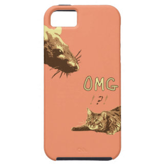 Funny Cat Rat Phone Case iPhone 5 Covers