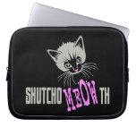 Funny Cat Shut Your MEOWth (dark) Computer Sleeve