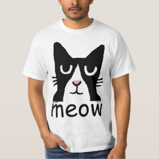 Funny Cat t-shirts, Panda Kitty, MEOW T-Shirt