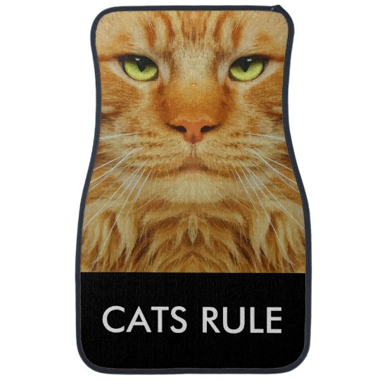 Funny Cat Theme Car Mat