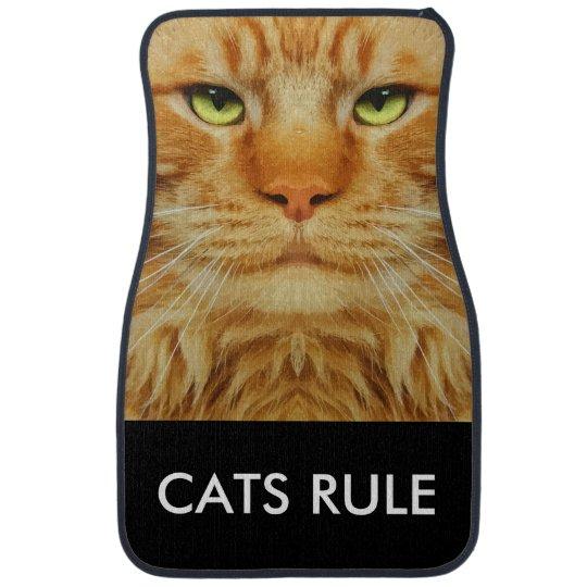 Funny Cat Theme Floor Mat