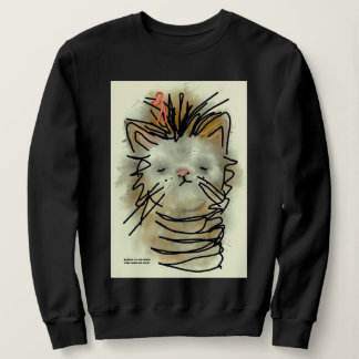 """Funny Cat with Bow"" Sweatshirt"