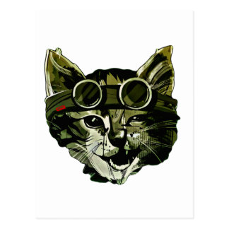 Funny Cat with Glasses Postcard