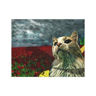 "Funny Cat ""Wizard of Oz"" Baum Fantasy Canvas Print"