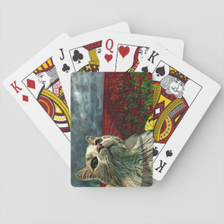 """Funny Cat """"Wizard of Oz"""" Baum Playing Cards"""