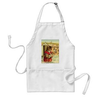 Funny Cats at the Beach - Louis Wain Standard Apron