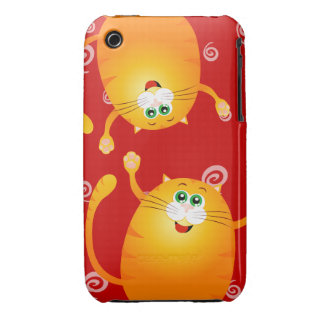 Funny cats, iPhone 3 case