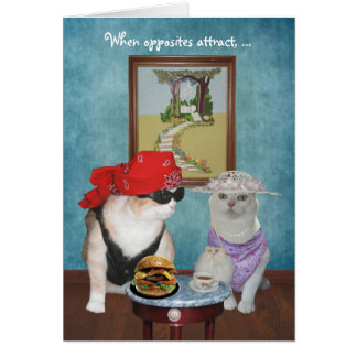 Funny Cats/Kitties Valentine/Anniversary Greeting Card