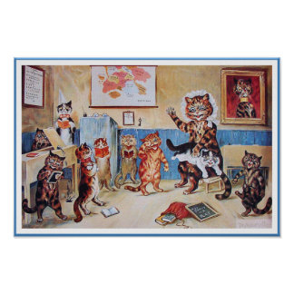 Funny Cats Poster Print:  The Naughty Puss