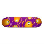 Funny cats, skate
