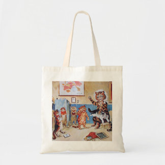 Funny Cats:  The Naughty Puss by Louis Wain Budget Tote Bag
