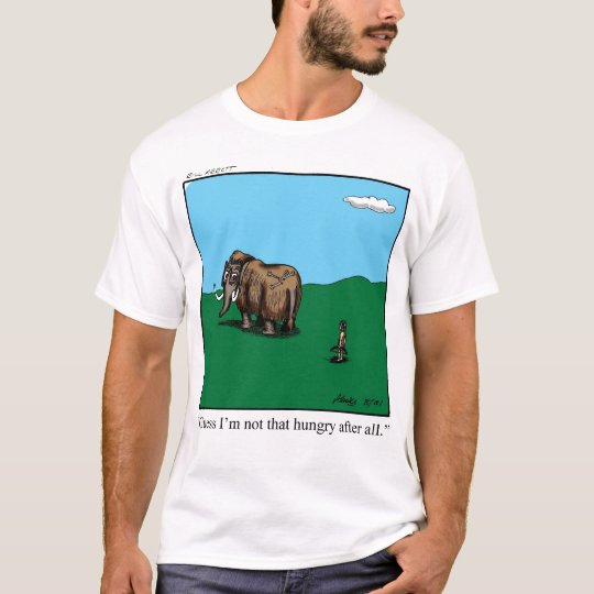 Funny Caveman Hunter Tee Shirt