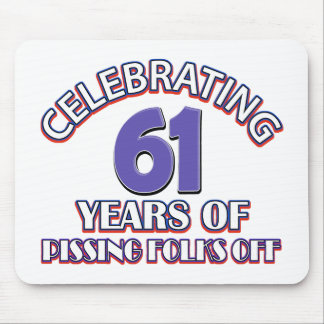 Funny Celebrating 60 years of raising hell Mouse Pad