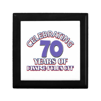 Funny Celebrating 70 years of raising hell Small Square Gift Box