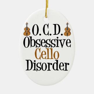 Funny Cello Christmas Ornament