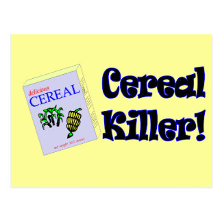 Funny Cereal Killer T-shirts Gifts Postcard
