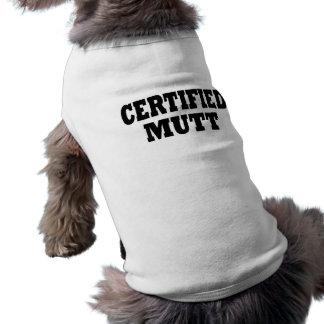 Funny Certified Mutt Dog T Shirt