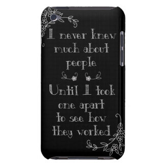 Funny Chalkboard Art Phone Case Barely There iPod Cover