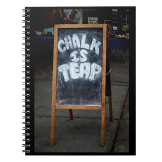 Funny chalkboard saying notebook