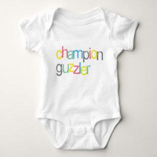 Funny! Champion Guzzler Baby Bodysuit